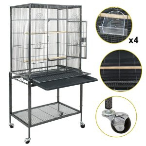 Rolling Wrought Iron Finch Bird Cage