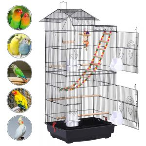 Roof Top Large Metal Finch Bird Cage